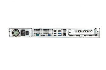 In-Win IW-RS104-02M-S500 H - 1U Server Chassis 500W Power Supply with 12G  Mini SAS Backplane and4x 3 5